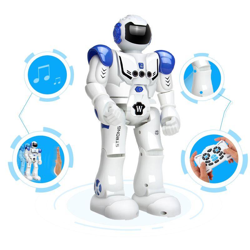 DODOELEPHANT figurine Robot articulée dansante à recharge USB robot jouet robot jouet à commande RC pour cadeau d'anniversaire garçons