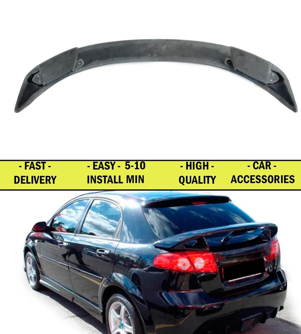 Spoiler case for Chevrolet Lacetti HB 2002-2013 ABS plastic decor sports styles car accessories aerodynamic wing car styling