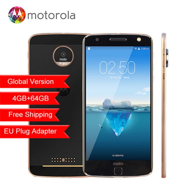 Original Motorola MOTO Z XT1650-05 Snapdragon 820 5.5 inch 2560X1440 2K 4GB RAM 64GB ROM 4G LTE Android 13.0MP camera phone