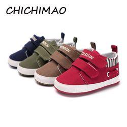 CHICHIMAO Infantile Bébés Garçon Fille Chaussures Semelle Souple en Toile Solide Chaussures Pour Nouveau-nés Enfants Lit Mocassins 4 Couleurs Disponibles