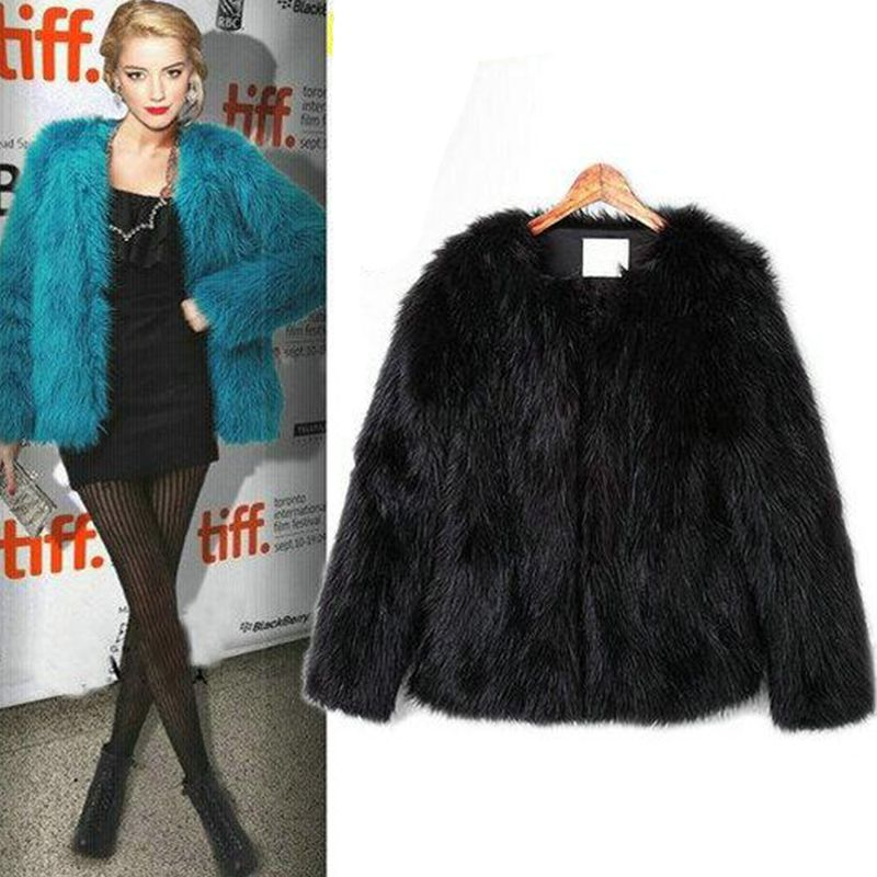 Wholesale! 4XL 5XL Hot sell 2017 New arrival Trendy Candy Faux Fur Coat Women's Fashion Slim Casual Party Jacket Coats PC105