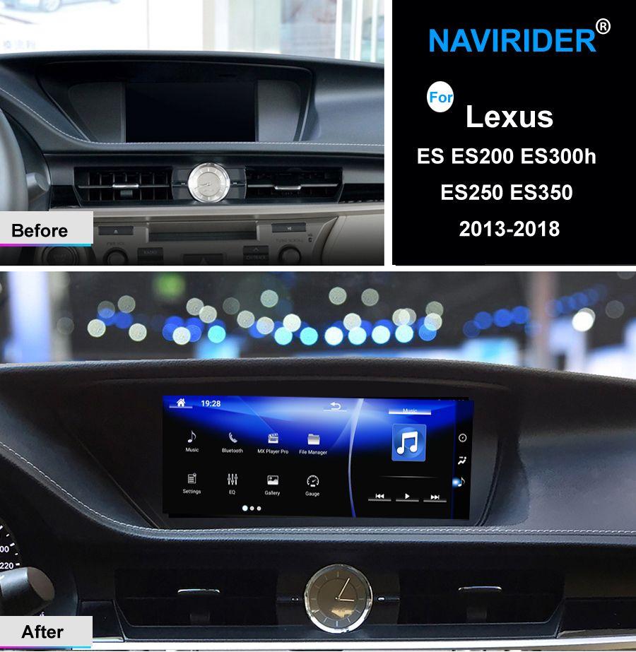 NAVIRIDER Android 7.1 Auto multimedia GPS Audio Radio Stereo Für Lexus es ES200 ES300h ES250 ES350 2013-2018 kopf einheit recorder