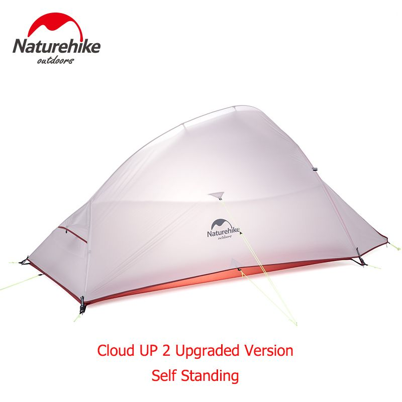 Naturehike 1.8Kg CloudUp Series Ultralight Hiking Tent 20D Fabric For 2 Person With Mat NH15T002-T