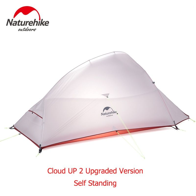Naturehike Upgraded Cloud Up 2 Ultralight Tent Free Standing 20D Fabric Camping Tents For 2 Person With free Mat NH15T002-T