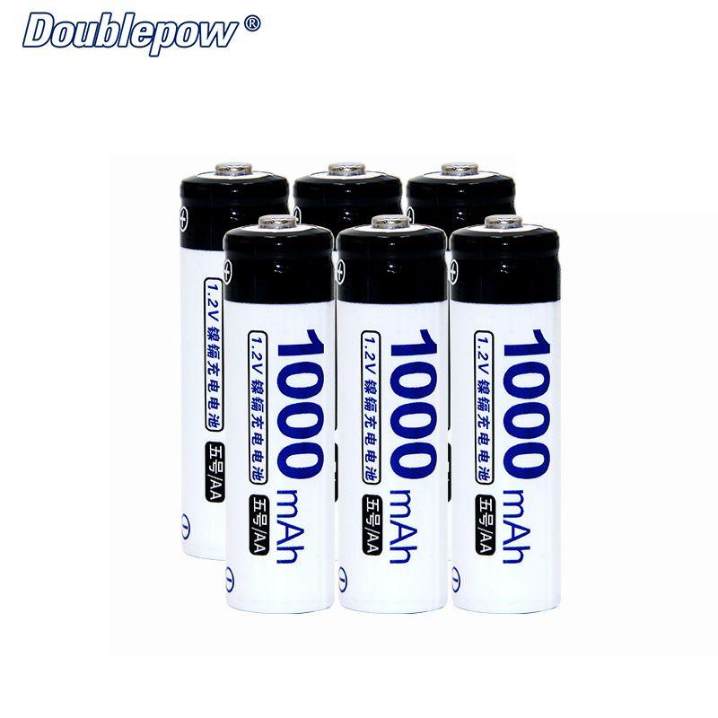 6 pcs/Lot Doublepow DP-AA1000 1.2 V AAA Ni-cd rechargeable batterie en Réelle Haute Capacité de 1000 mAh Batterie cellulaire LIVRAISON GRATUITE