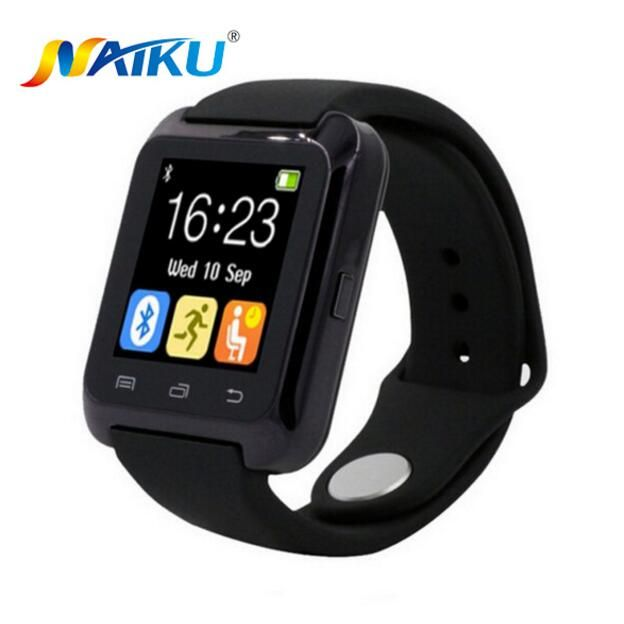 SmartWatch Bluetooth Smart часы U80 для iPhone IOS Android смартфон Носите часы Носимых устройств умные часы PK U8 GT08 DZ09