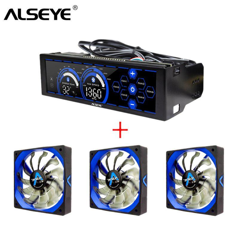 ALSEYE Computer Fan Controller und PWM 120mm Fan Kit für PC Cooling 3/4pin 12 v 2000 rpm kühler und Lüfter Speed Controller