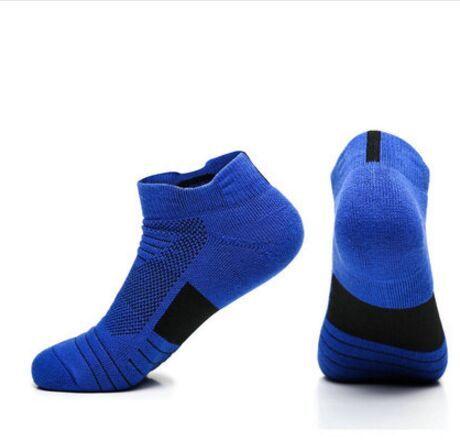 2018 extérieur hommes Sport chaussettes respirant Sweat coton antidérapant amortissement course cyclisme chaussettes automne professionnel basket-ball chaussettes