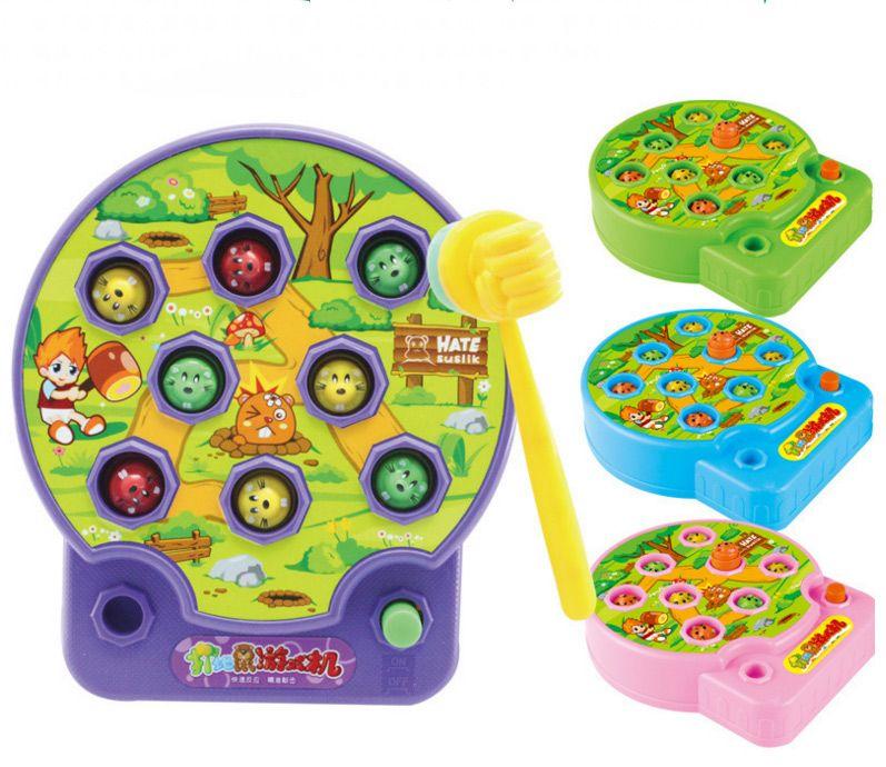 Bohs bebé whac-a-mole mole hamster ataque poke a mole música electrónica niños Juego de la familia