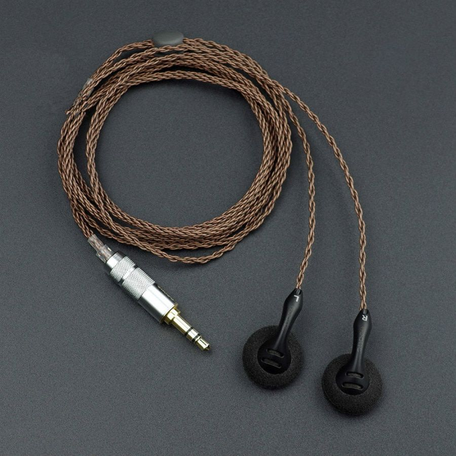 SHOZY BK High-Sensitivity Low Resistance HiFi Audiophile Open Flat Head Hifi Music DJ Monitor Stereo 2.5mm 3.5 Earbuds Earphones