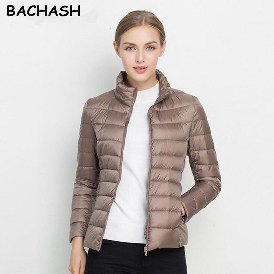 BACHASH Christmas Gift Solid Color Zipper Women Jacket 2017 New Fashion Autumn Winter Slim Warm Ladies Coats Plus Size Outerwear
