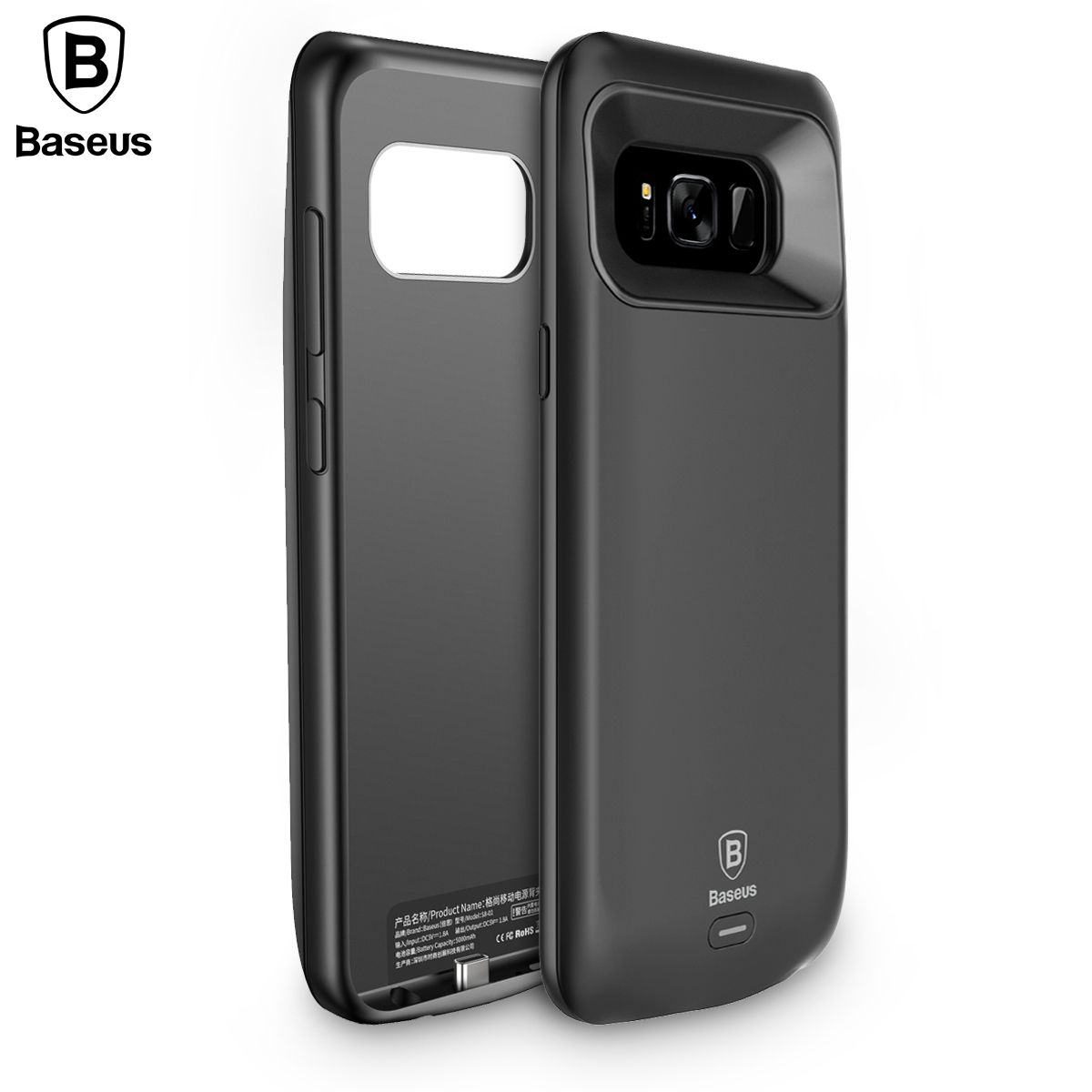 Baseus Battery Charger Case For Samsung Galaxy S8 Plus 5000mAh/5500mAh Backup External Battery Power Bank Charging Cover Case