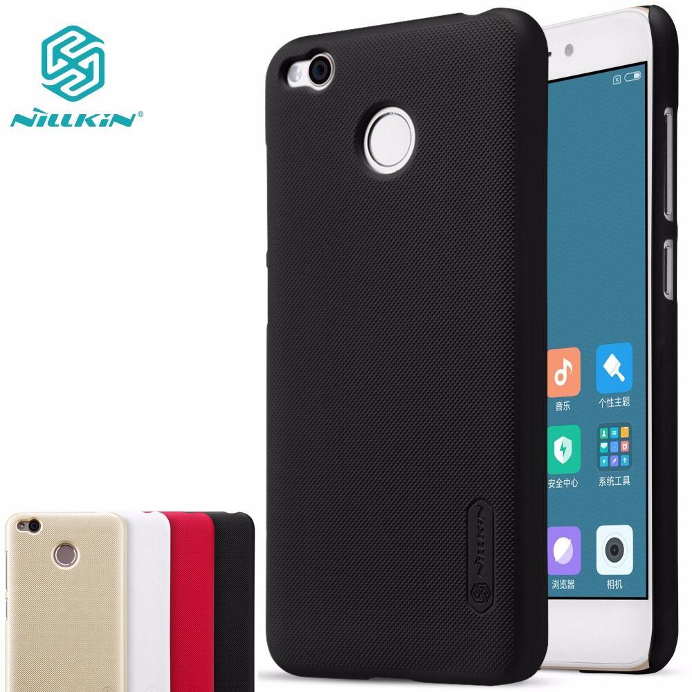 xiaomi redmi 4X case xiaomi redmi 4X pro cover NILLKIN Super Frosted Shield hard matte back cover with free screen protector