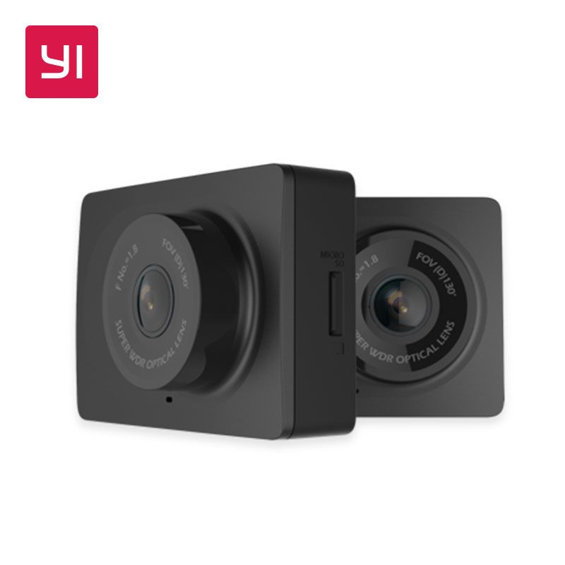 YI Compact Dash Camera 1080p Full HD Car Dashboard Camera with 2.7 inch LCD Screen 130 WDR Lens G-Sensor Night Vision Black