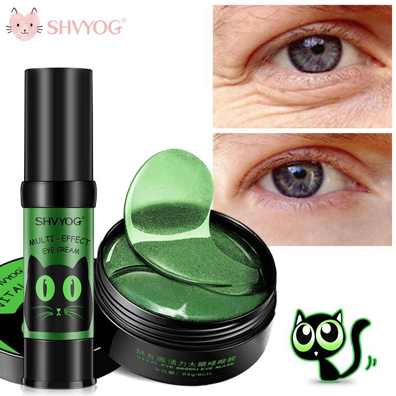 SHVYOG 60pcs Anti Wrinkle Eye Patches Mask Crystal Collagen Under the Eyes Sleep Mask Remove Dark Circles Hydrogel Patch