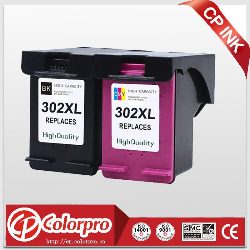CP 2PK 302 En Gros pour HP302XL 302 Cartouche d'encre pour HP DeskJet 1110 1111 1112 2130 2131, Officejet 3630 3830 4650 imprimante
