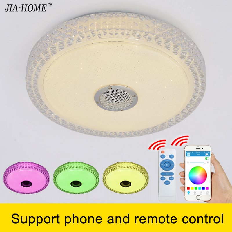 RGB dimming Led light ceiling with phone bluetooth and remote control smart round flush mount light for lampara de techo abajur