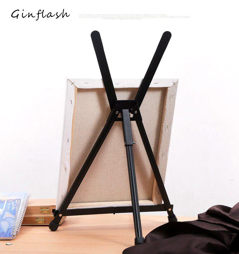 Pliable peinture chevalet affichage en alliage d'aluminium croquis chevalet cadre artiste réglable trépied présentoir ACT041