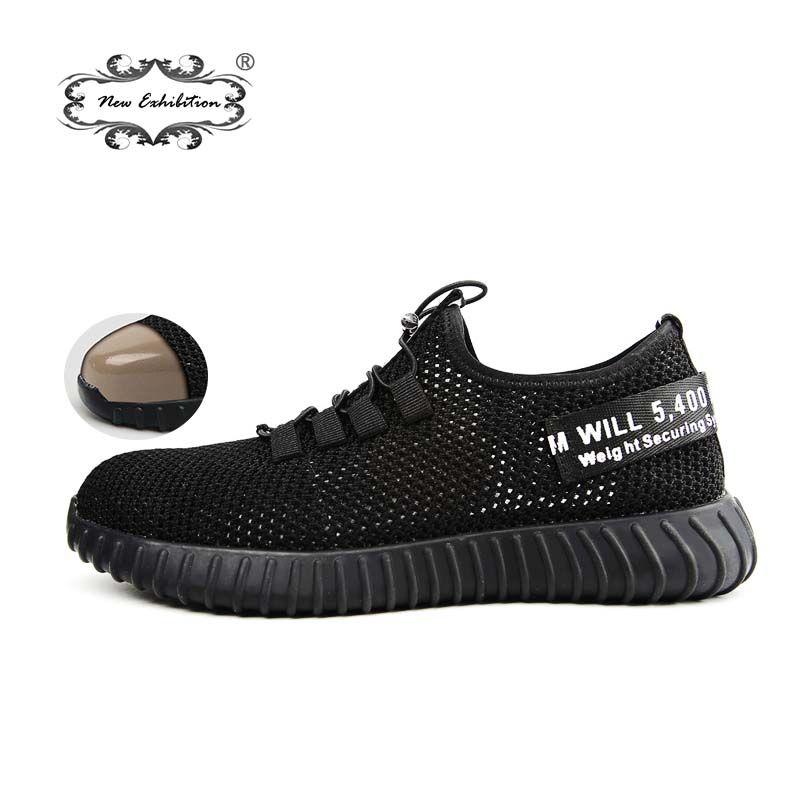 Nouvelle exposition respirant chaussures de sécurité homme d'été Léger anti-fracassant travaux de perçage sandales maille Unique baskets 35- 46