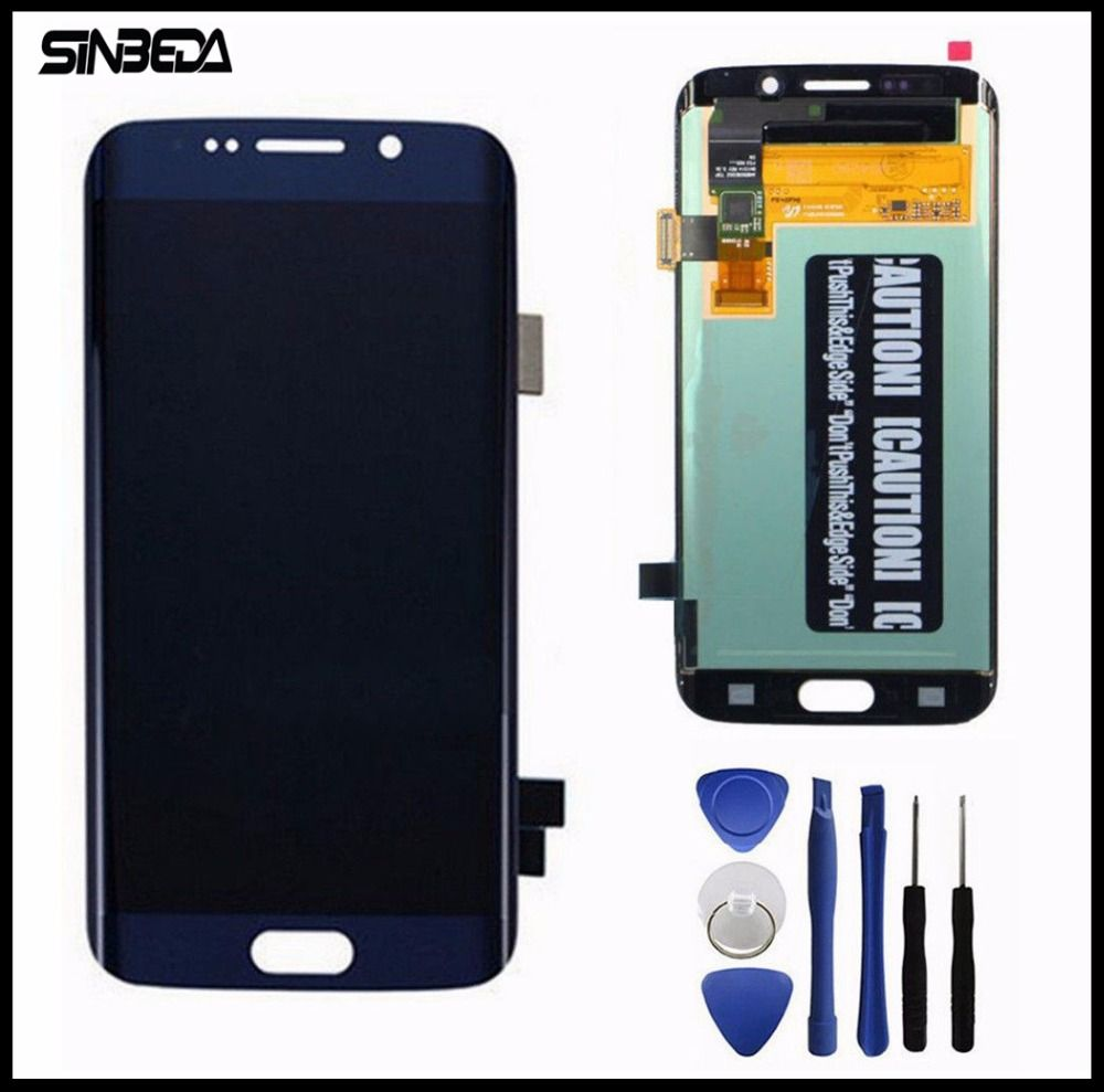 Sinbeda Top Quality For Samsung Galaxy S6 Edge LCD Display Touch Screen Digitizer Assembly For G925 G925F G925i White/Blue/Gold