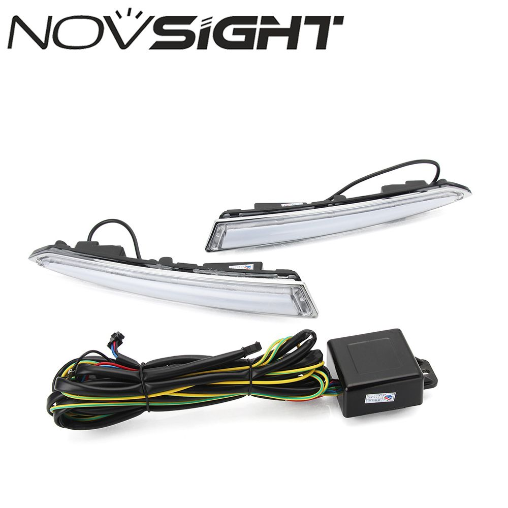 NOVSIGHT 2x LED DRL Auto Car Daytime Running Driving Lights Lamp Daylight for 2013-2014 Ford Kuga Escape