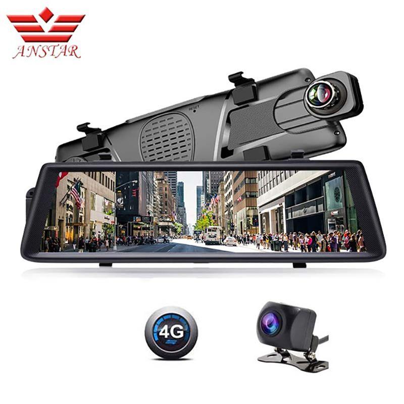 ANSTAR AV6 ADAS Car DVR Camera 4G Android Video Recorder Dual Lens Bluetooth WIFI FHD 1080p GPS Navigator Car Rearview Mirror