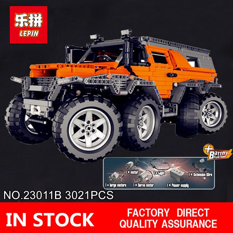 H&HXY In-Stock 23011B 2816Pcs New Series Off-road vehicle Model 23011B Educational Building Kits Block Bricks Toys lepin Gifts