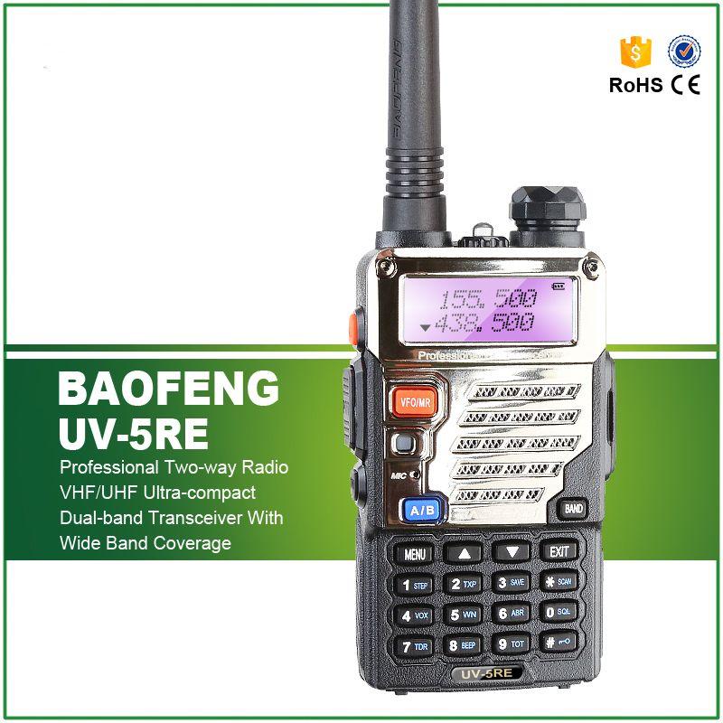 Baofeng UV-5RE Walkie Talkie Dual Band Two Way Radio UV 5RE 5W 128CH UHF VHF FM VOX Dual Display Radio Comunicador