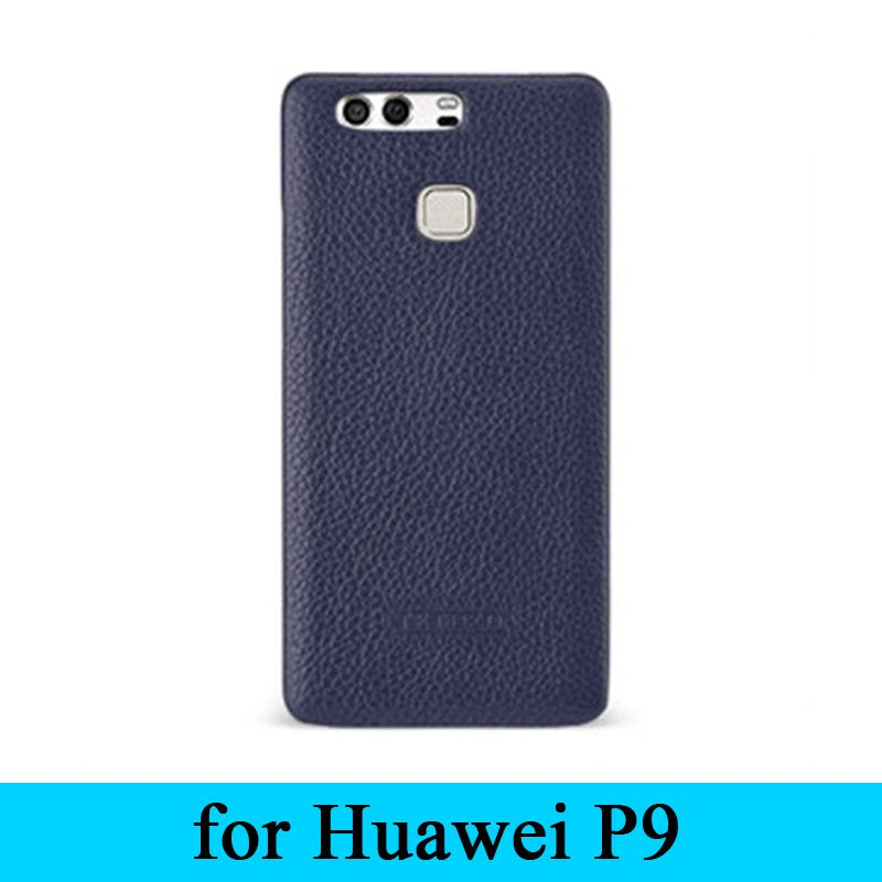 2017 Fashion Design Brand New Cover 100% Genuine Leather Skin Ultra-thin Back Protection Shell for Huawei P9 Case