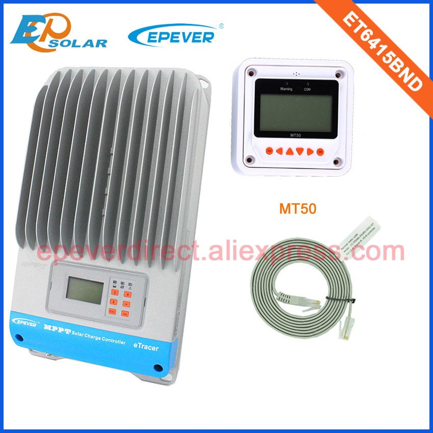 60A mppt regler Beweglicher panels tracer MPPT ET6415BND Freies verschiffen niedriger preis MT50 zählerfernauslesung 24 V/48 V batterie