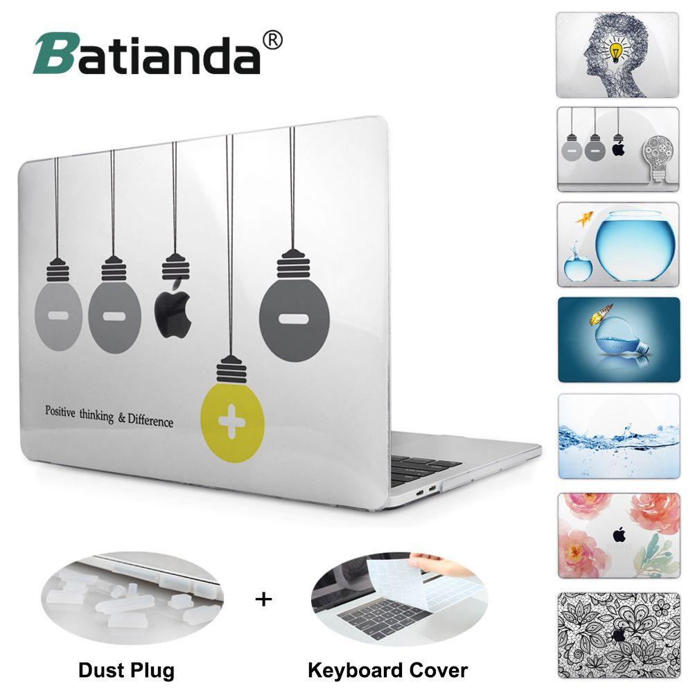 Для MacBook Pro 12 13 15 retina Crystal Clear ноутбука чехол для Apple MacBook Air 11,6 13,3 дюймов Новый pro 13