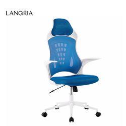 LANGRIA DE MCT166 BLEU 360 Degrés Pivotant Ergonomique Haute-Retour Mesh Bureau Exécutif Chaise De Jeu avec Genou-Tilt 265 lbs Capacité
