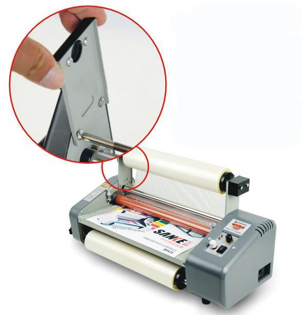 New update 11th Generation Speed Adjustable 13inch (330mm) Four Rollers Hot and cold roll laminating machine Laminator 220V/50Hz