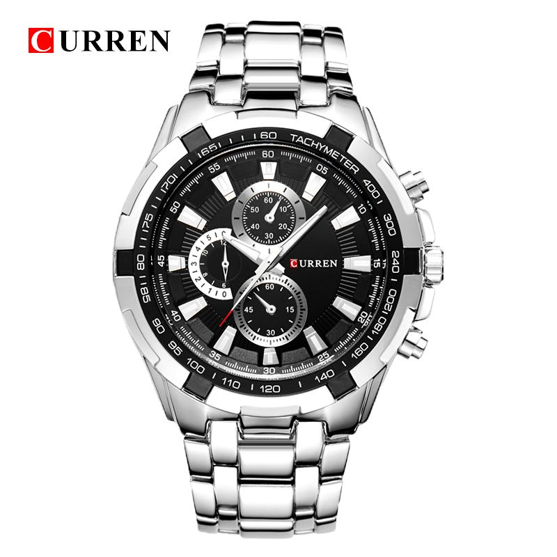 HOT2016 CURREN Watches Men quartz TopBrand Analog Military <font><b>male</b></font> Watches Men Sports army Watch Waterproof Relogio Masculino8023