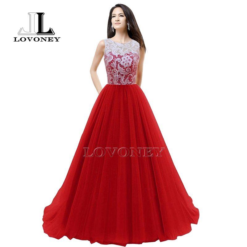 LOVONEY 2017 Elegant Lace Royal Blue Evening Dress Bridal Bouquet Dresses Evening Gown Formal Dress Robe De Soiree Longue S304