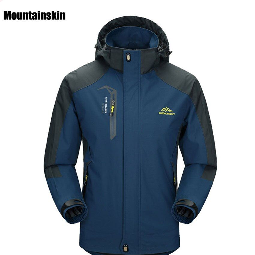 2017 New Spring Autumn Mens Softshell Hiking Jackets Male Outdoor Camping Trekking Climbing Coat For Waterproof Windproof VA002