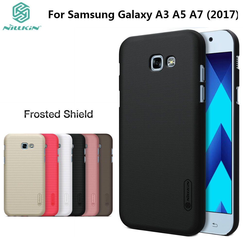 A3 A5 A7 2017 Nillkin étui pour samsung Galaxy A3 2017/A5 2017/A7 2017 couverture arrière en plastique dur avec protecteur d'écran cadeau