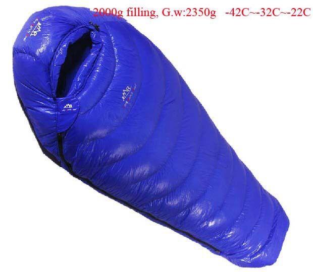 Gans unten 2000g Füllung-42C ~-22C! Ultra-licht unten outdoor goose unten außen erwachsene atmungs verdickung schlafsack