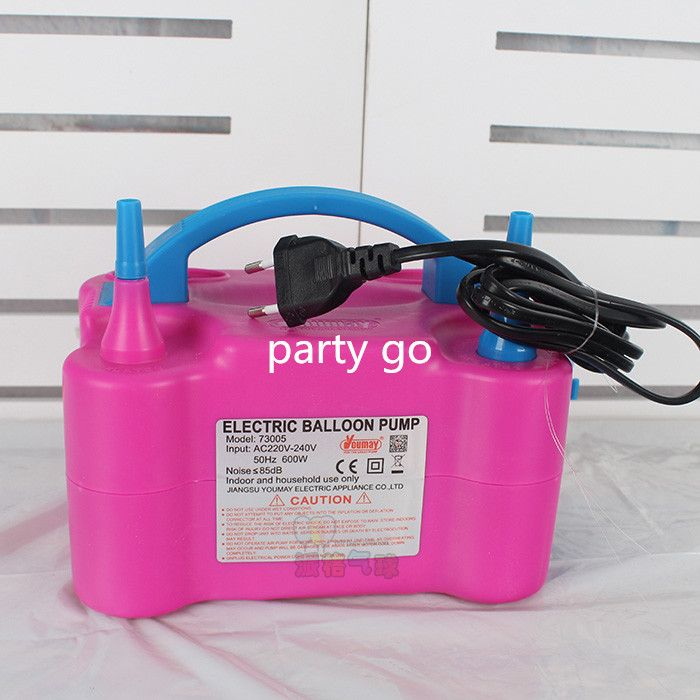 High Voltage Double Hole AC <font><b>Inflatable</b></font> Electric Balloon Pump Air Balloon Pump Electric Balloon Inflator Pump Portable Air Blower
