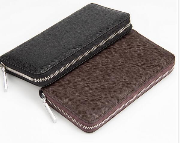 2017 новые модные натуральная кожа бумажник Высокое качество молнии бумажник бесплатная доставка