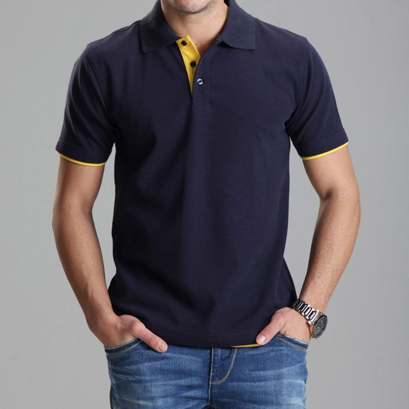 Marque vêtements Polo Homme solide en gros Polo chemise décontracté hommes t-shirt hauts coton Slim Fit 102TBG