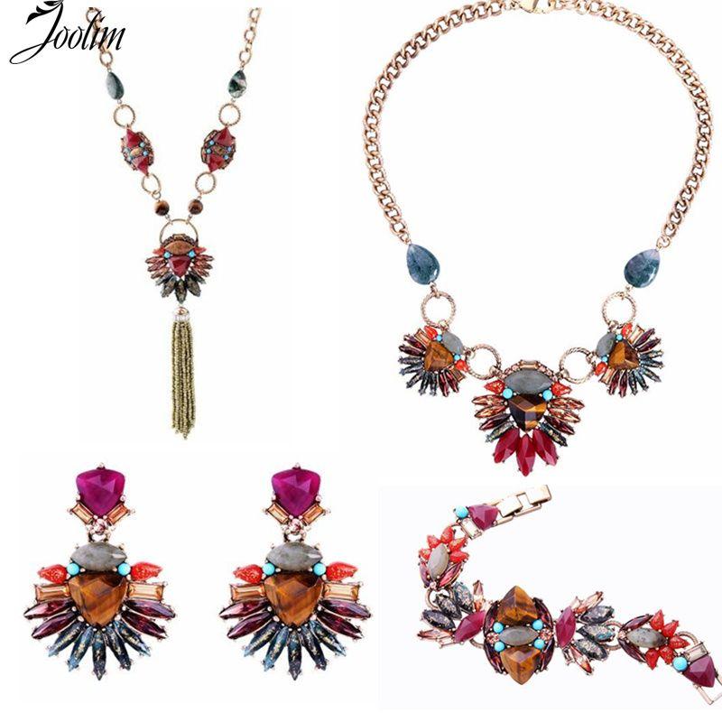 JOOLIM bijoux en gros/coloré oeil de tigre déclaration bijoux ensemble bijoux audacieux