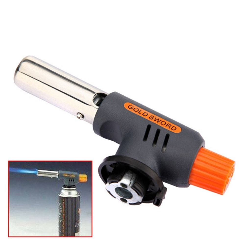 Brand Excellent quality Gas Torch Flamethrower Butane Burner Auto Ignition Camping Welding BBQ Outdoor Travel H1E1