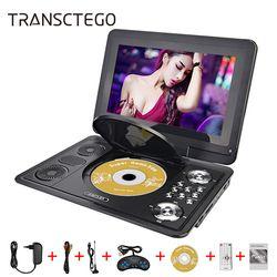 13 inch HD Portable DVD Player Mobile Digital Multimedia Player TV EVD Radio MPEG MPEG4 VCD SD Card U disk play