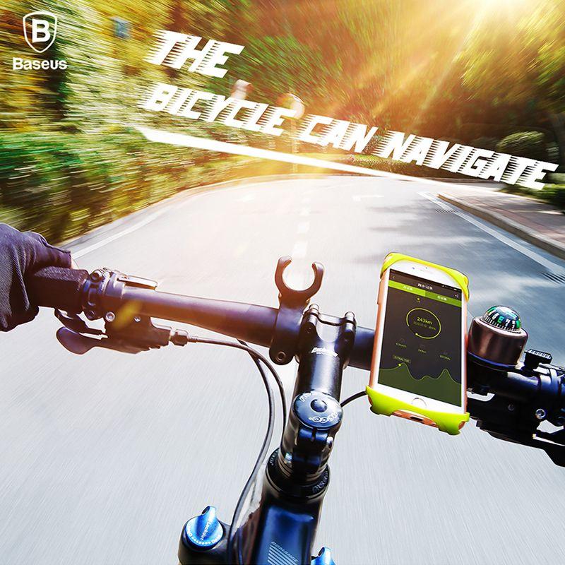 Baseus Vélo Vélo Support de Téléphone Pour iPhone X 8 Samsung 4-6 pouce Moto Vélo Mobile Vélo Support De Téléphone De Support Mobile Stand