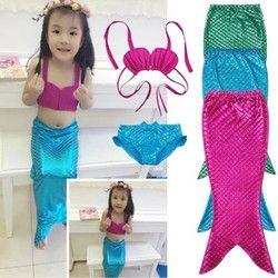 Mädchen phantasie Meerjungfrau Schwanz Mädchen badeanzug Bikini Sommer strand badeanzug kostenloser versand