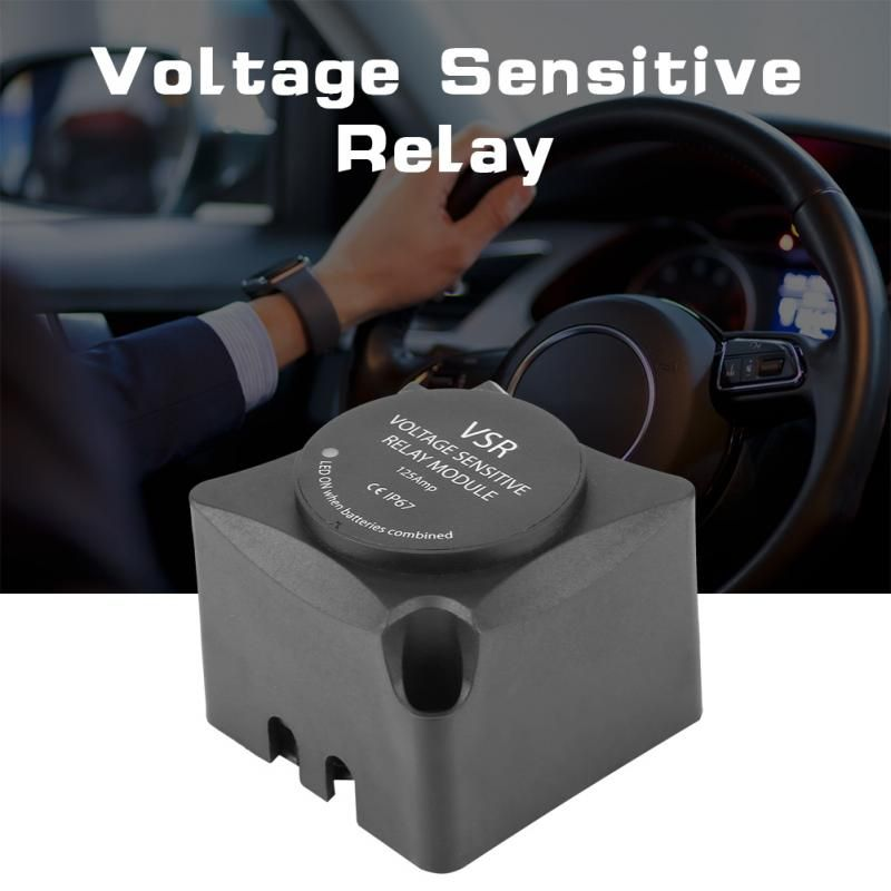 Voltage Sensitive Relay (VSR)  Automatic Charging Relay 125A Dual Battery Isolator (VSR) Car Accessories DC 12V