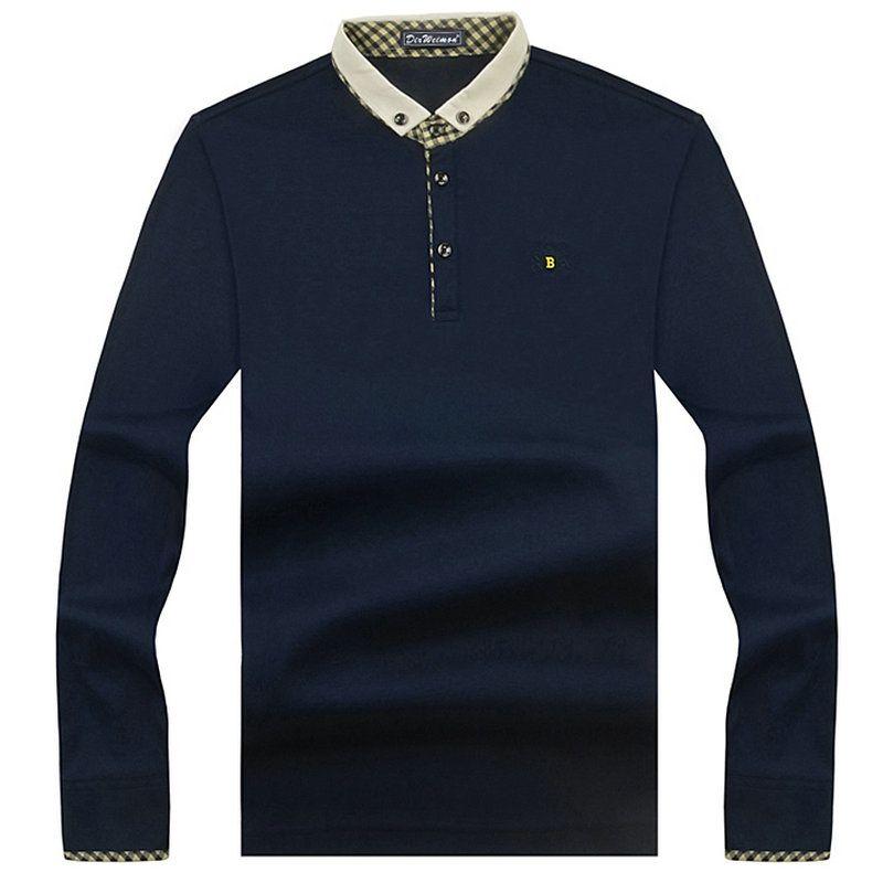 2019 nouveauté marque de mode polos à manches longues hommes printemps Slim chemise t-Shirt décontracté en coton chemises hommes grande taille S-10XL