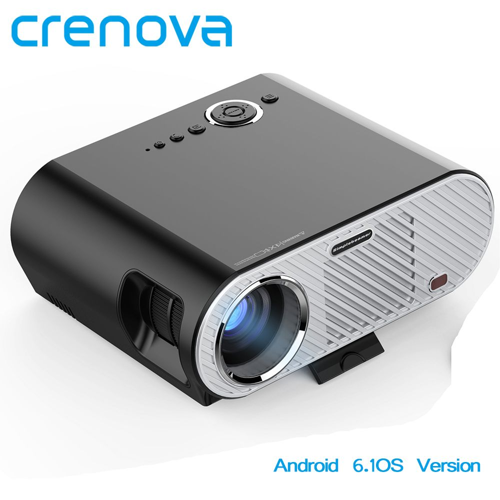 CRENOVA Android Projector 1920*1080P LED Projector For Home Theater Movie Proyector VGA AV Audio HDMI Android 6.1OS Version