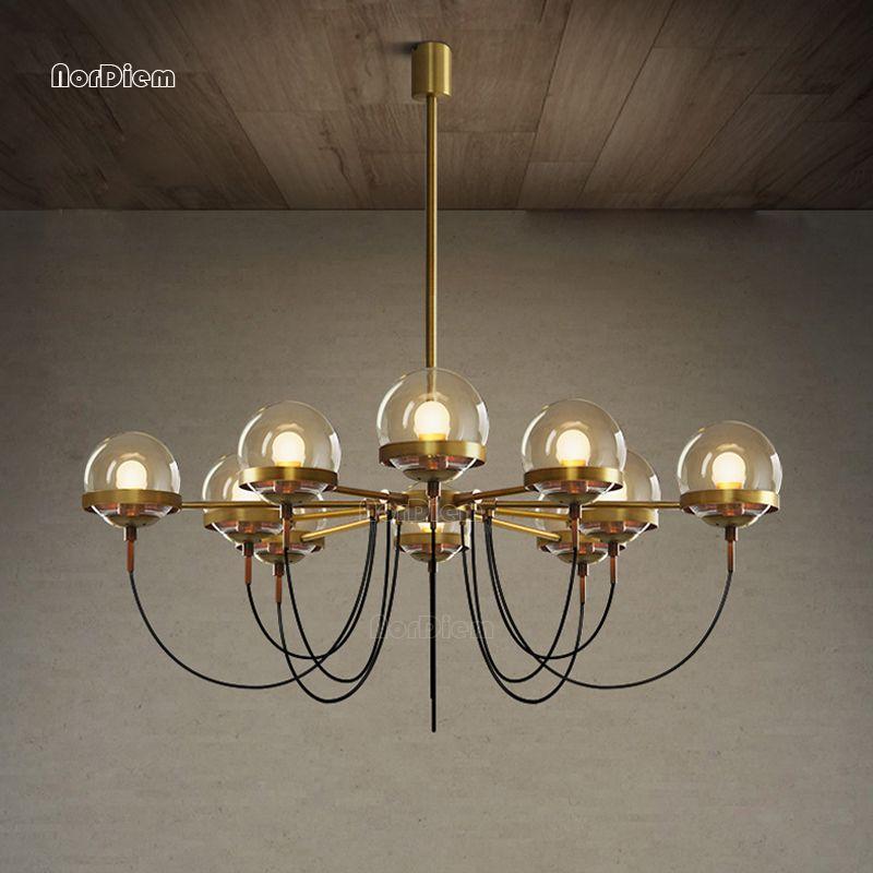 5/8/10 lichter Nordic Glas Ball Bronze Kronleuchter Moderne Designer kronleuchter Beleuchtung für Restaurant wohnzimmer Schwarz glanz